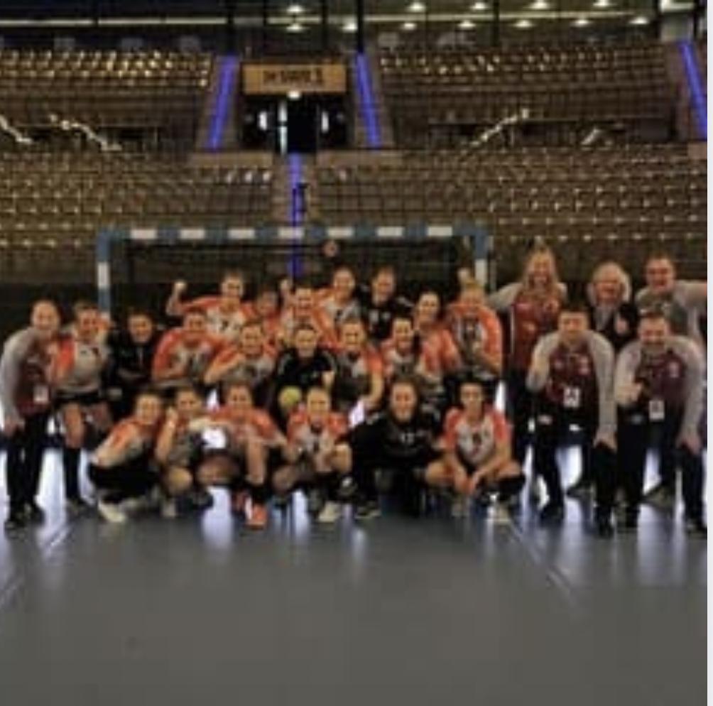 Die Mannschaft der Handballluchse bei den Final Four